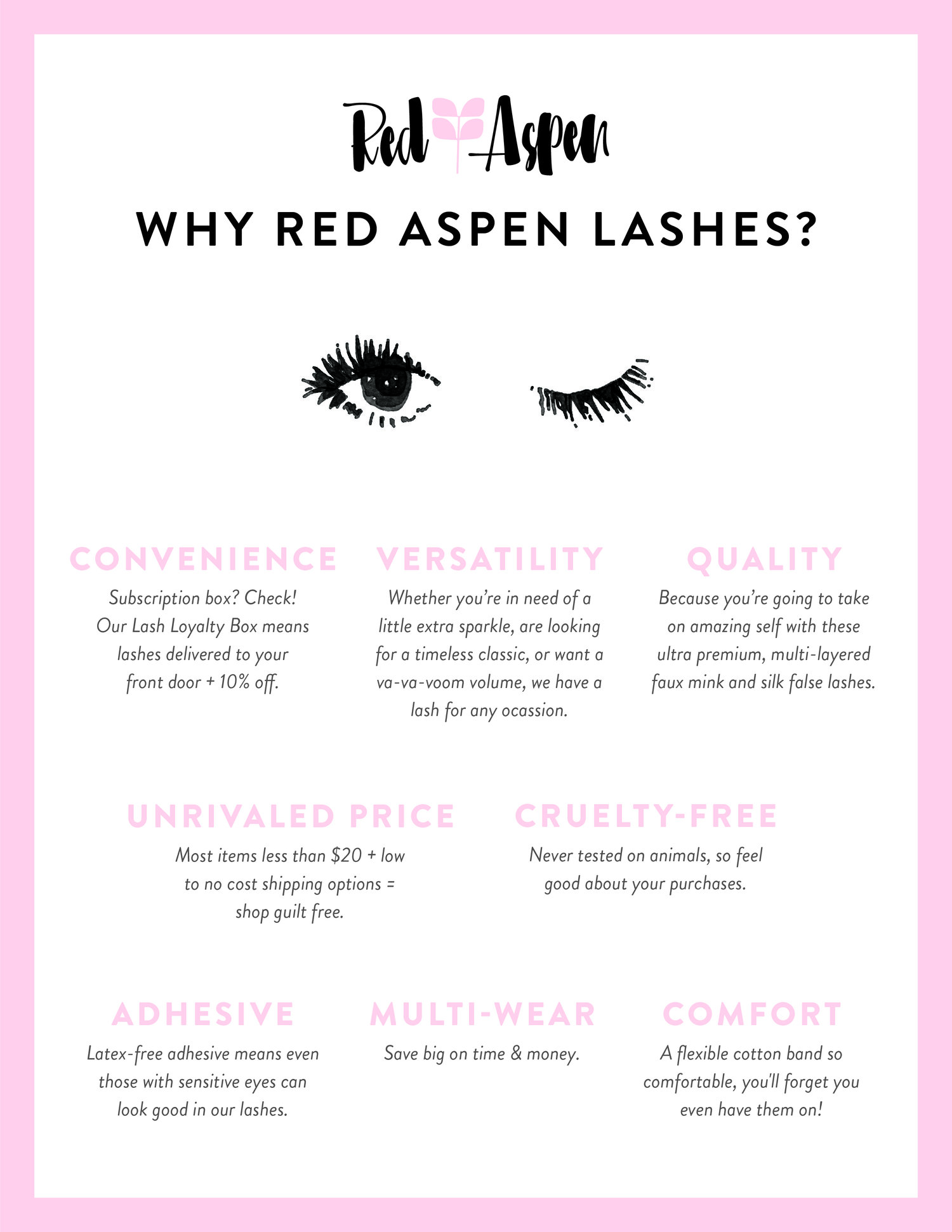 6363f1c72b7 Why Red Aspen Lashes? — The Treehouse by Red Aspen