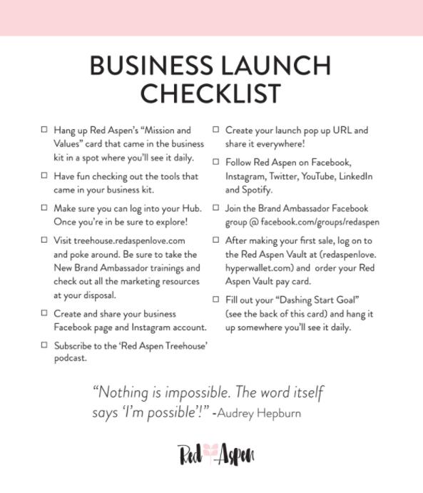 Business Launch Checklist -
