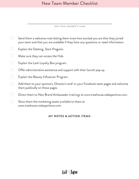 New Team Member Checklist -