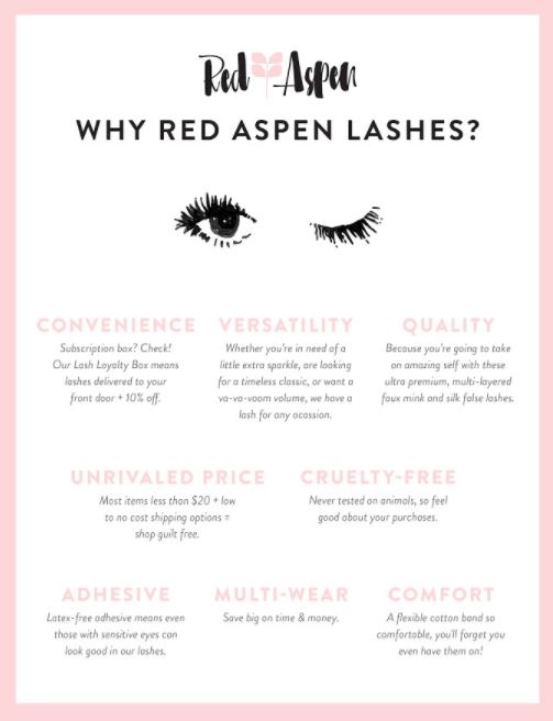 Why Red Aspen Lashes? (Infographic) -