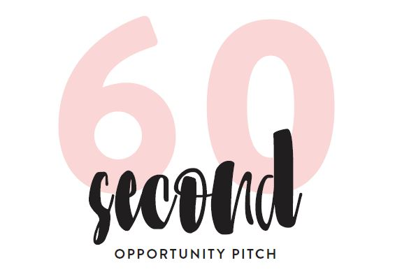 60 Second Opportunity Pitch Worksheet -