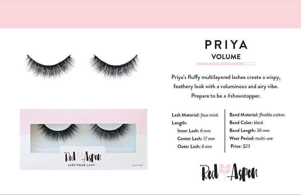 Priya Spec Sheet -