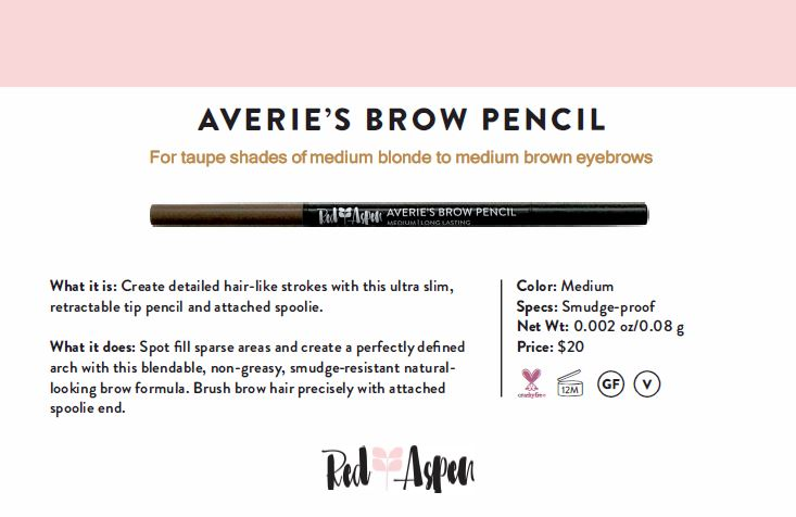 Spec Sheet Averie's Brow Pencil: Medium -