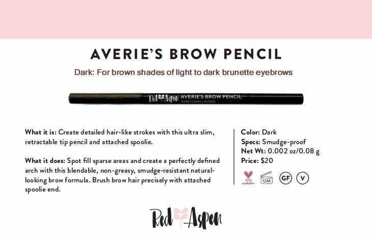 Spec Sheet Averie's Brow Pencil: Dark -