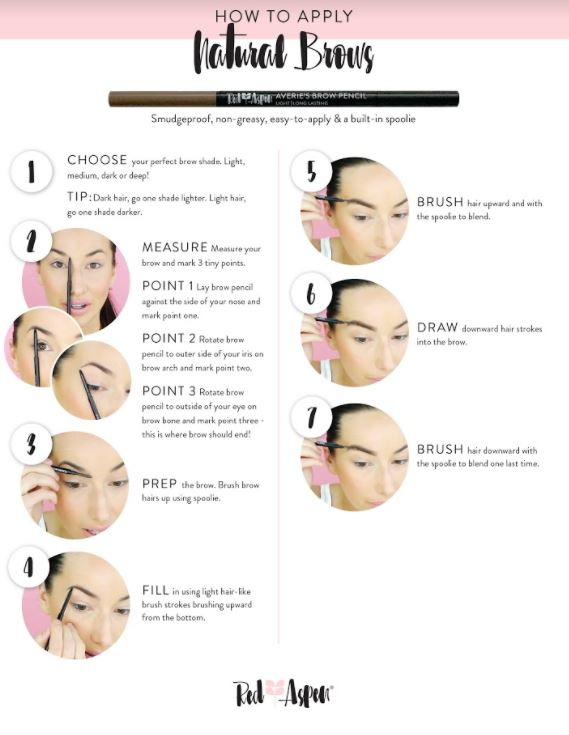 How to Apply Natural Brows -
