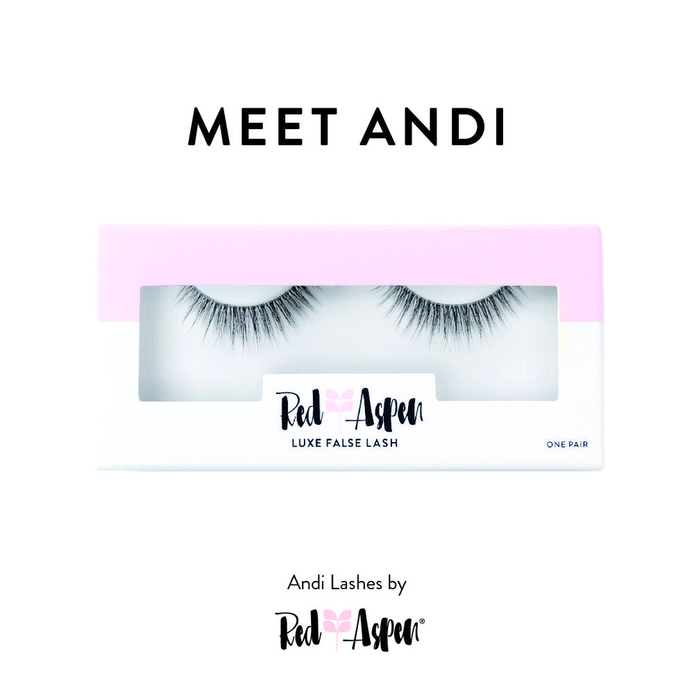 "The lightest lash, clear banded ""Andi"" that will be donated to MSTI patients"