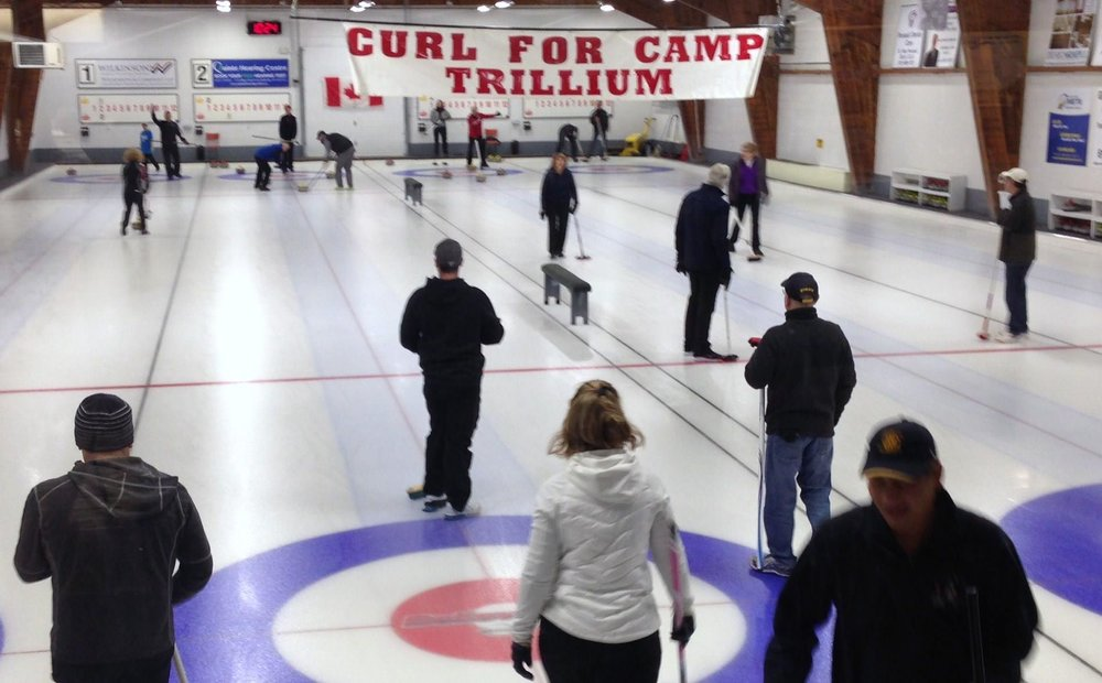 The Rotary Club of Quinte Sunrise raised $6600 at the annual Curl for Camp Trilliumin February. This will be put towards a new basketball court for kids with cancer and their families.