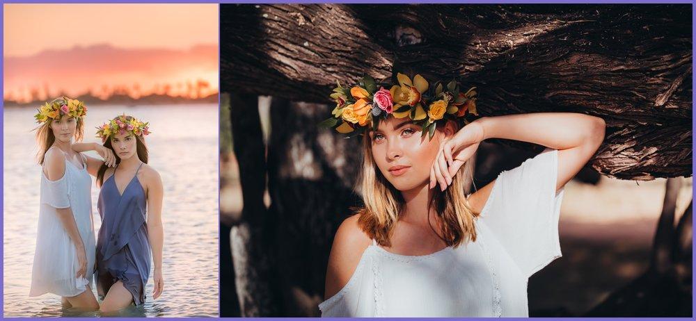 Models with haku flower crowns - oahu glamour photographer - ketino photography.jpg