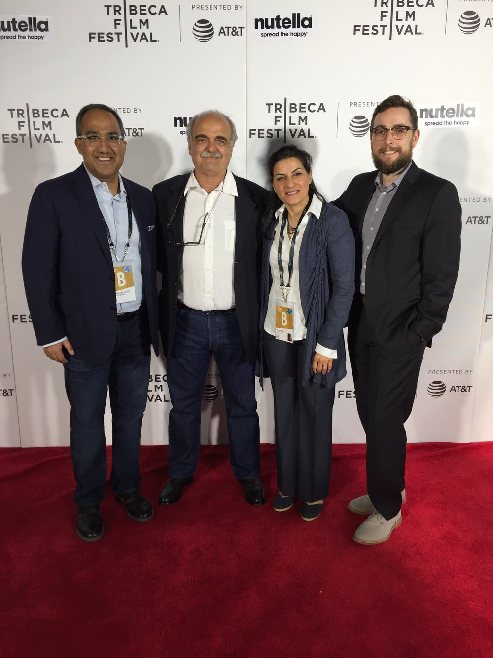 From left to right: Sa'ad Shah (Producer),Franco Pagetti, Aeyliya Husain (Director/Producer), Ivan Verlaan (Director of Photography)