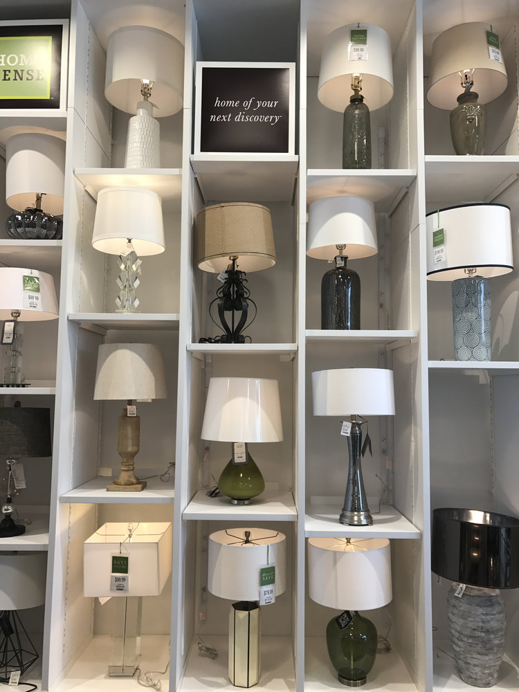 Gray oak studio visits home sense a new home concept store gray we loved the large selection of table and floor lamps aloadofball Choice Image