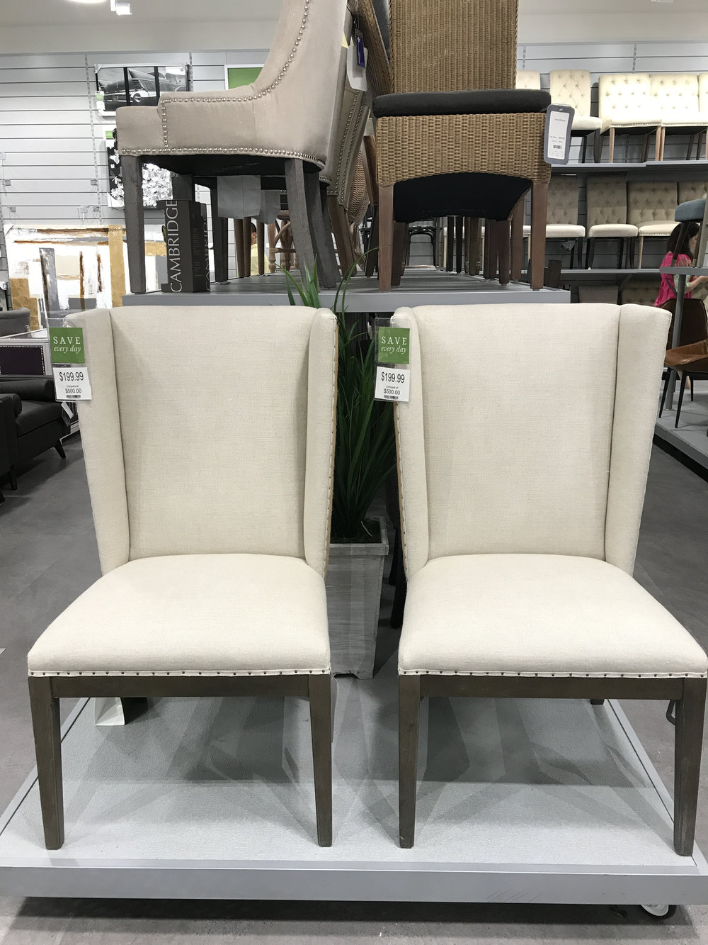 There is a great selection of dining chairs and stools, many stlyes with 5 or more of the same chair.