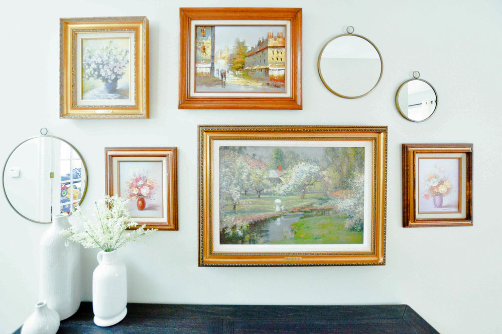 Gray Oak Studio Homestead Entryway - Gallery Wall
