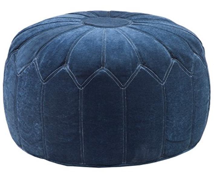 Blue velvet ottoman pouf on Target