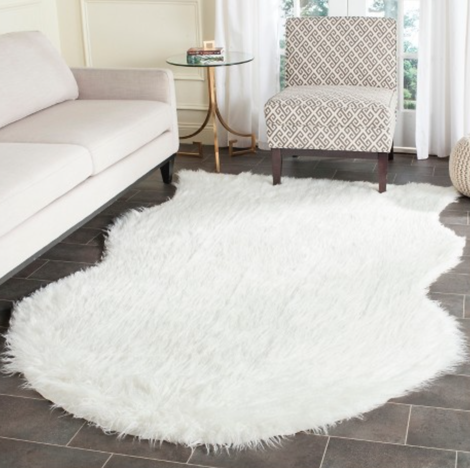 Faux sheepskin runner rug on Target