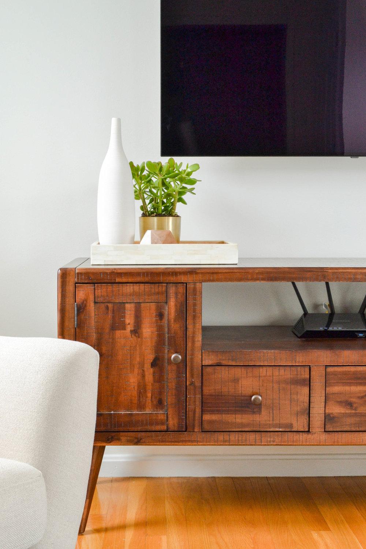 Gray Oak Studio Pearl Street Project mid-century living room