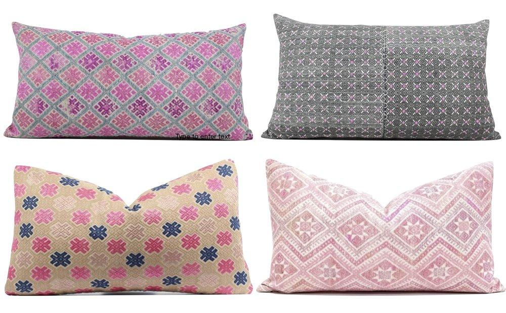 Gray Oak Studio - Chinese Wedding Blanket Pillows