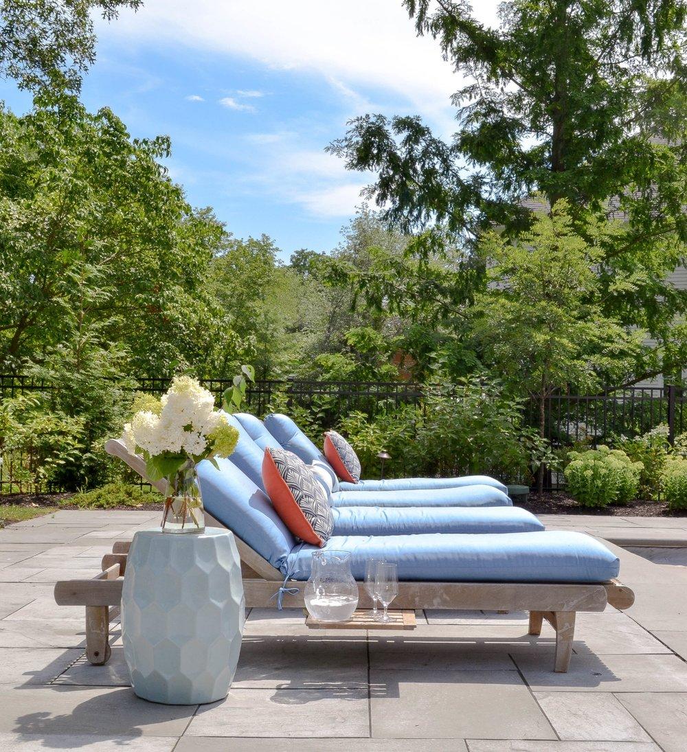 Gray Oak Studio pool side lounge chairs