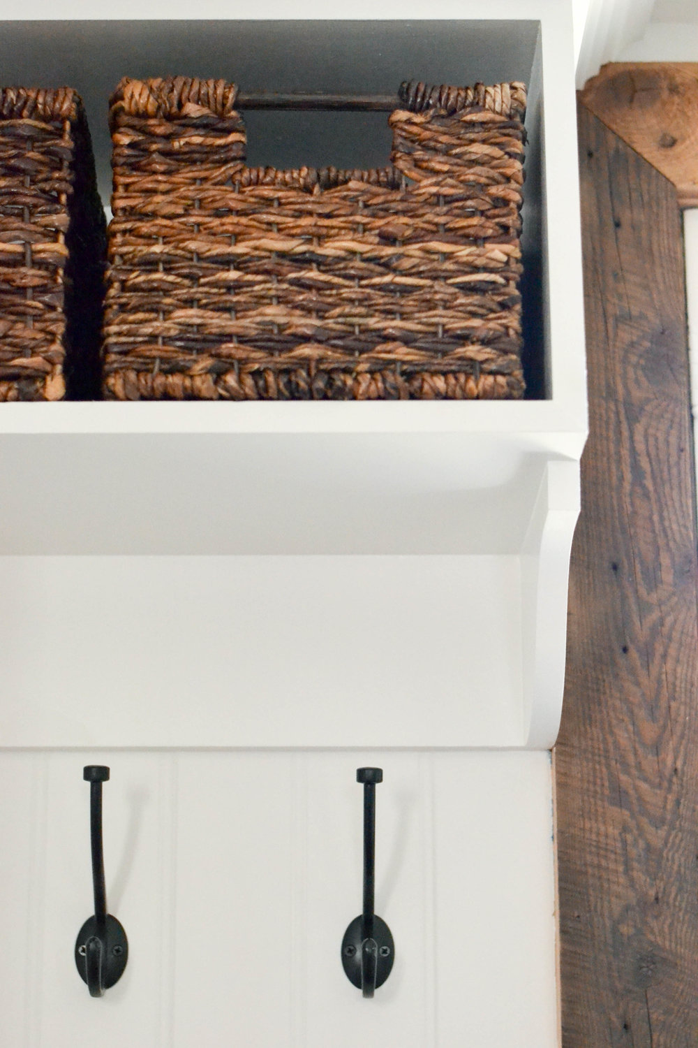 Gray Oak Studio - Pilgrim Project mudroom baskets