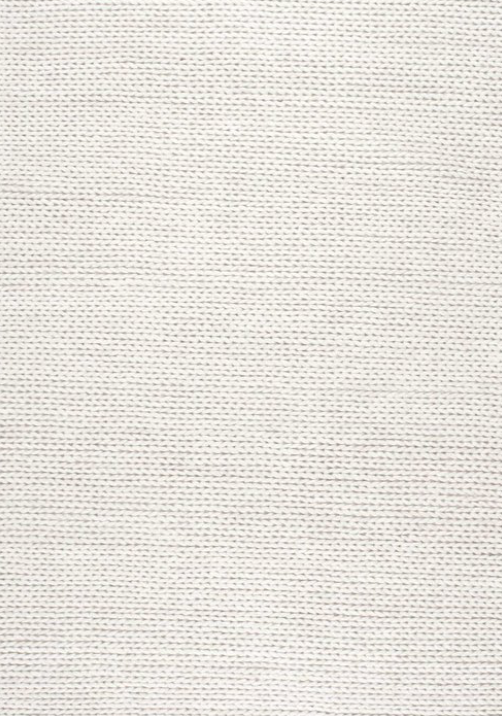 Gray Oak Studio - Woven white chunky wool rug