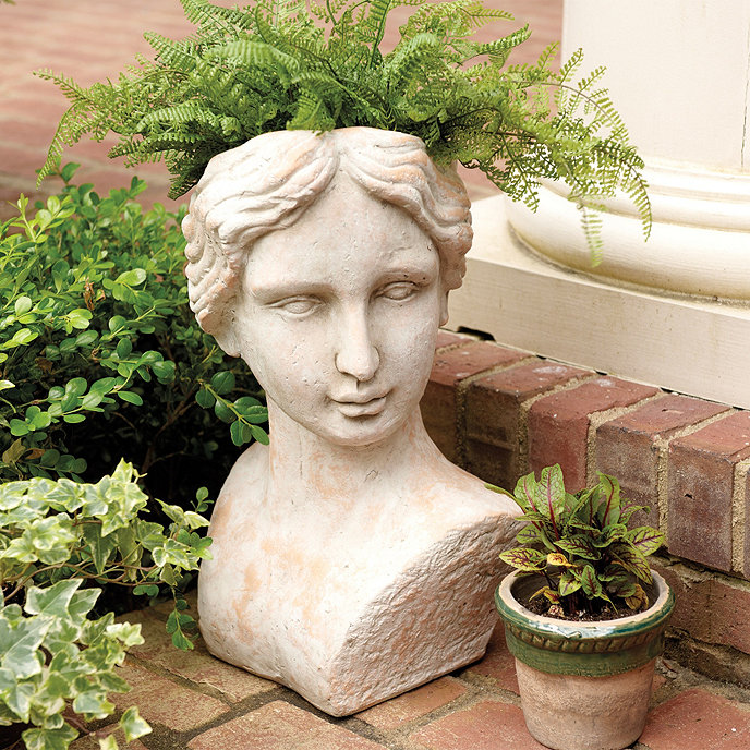 Gray Oak Studio - Bust Planter from Ballard Designs