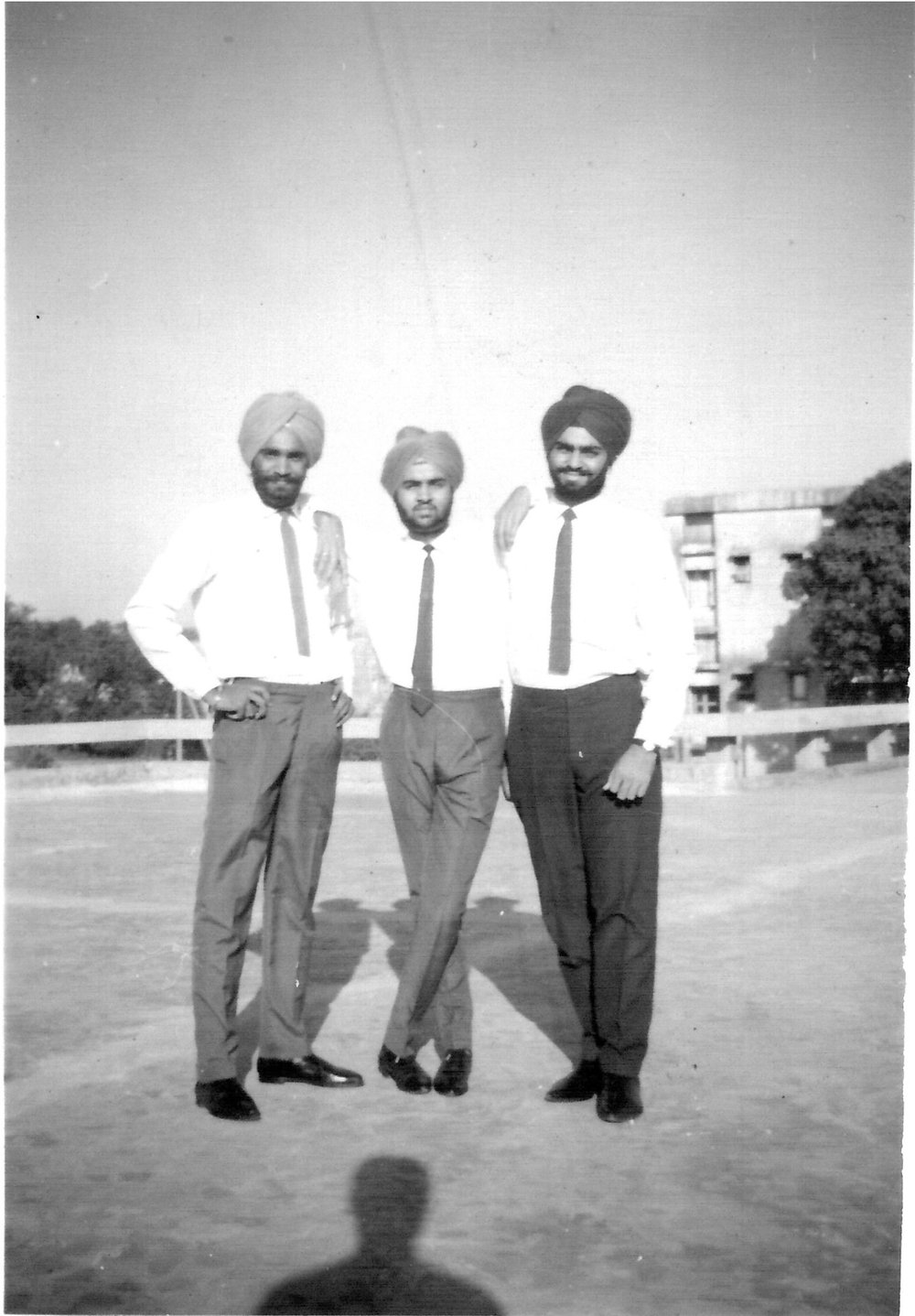 Kanwal Rekhi with colleagues at IIT.  (Photo is provided as a courtesy to The $8 Man and is the property of Kanwal Rekhi)
