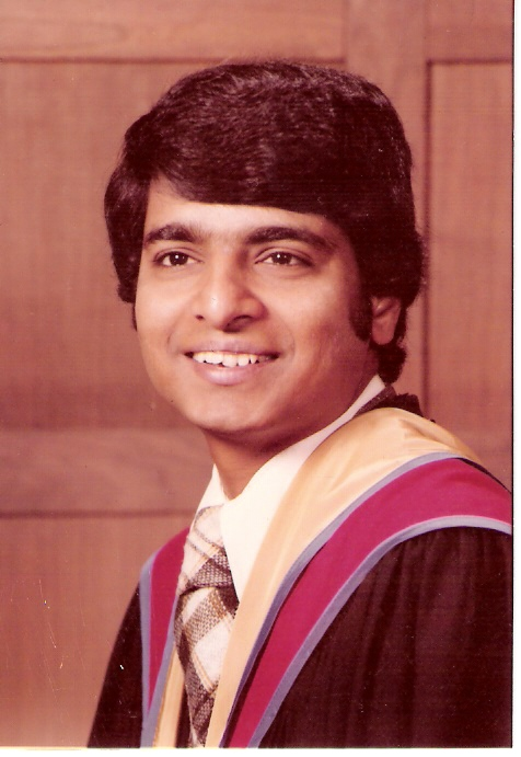 Desh Deshpande Ph.D. graduation    (Photo is provided as a courtesy to The $8 Man by Gururaj Deshpande)