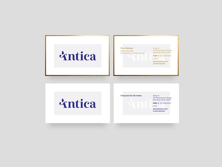 Antica  client work branding