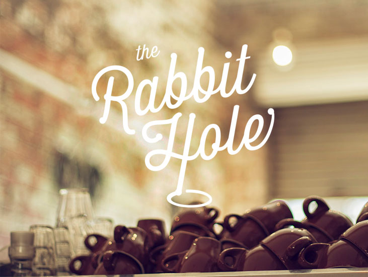 the rabbit hole  personal work Branding & fitout