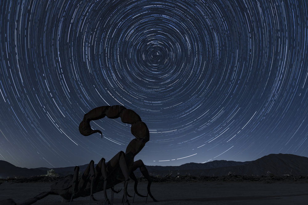 Star Trails Anza Borrego, CA