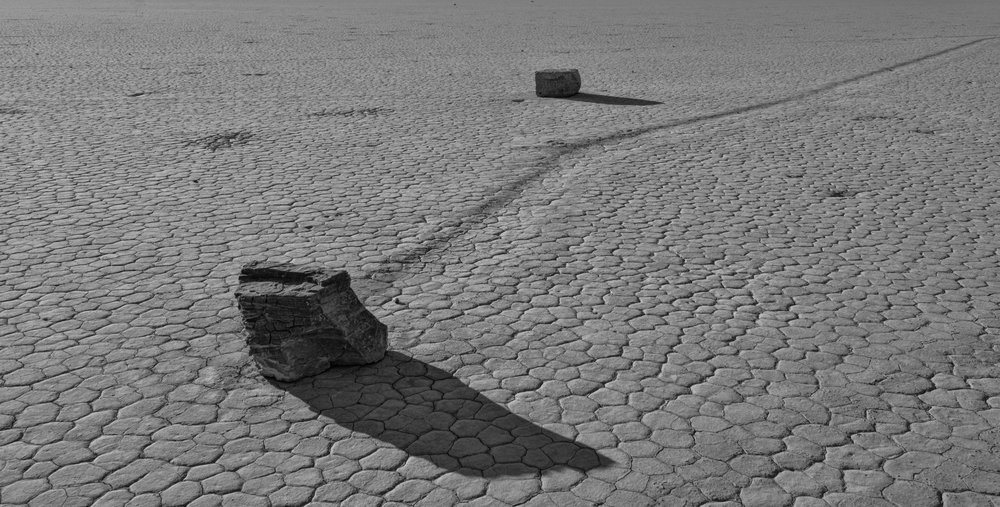 Sailing Stones Racetrack Playa Death Valley, Ca