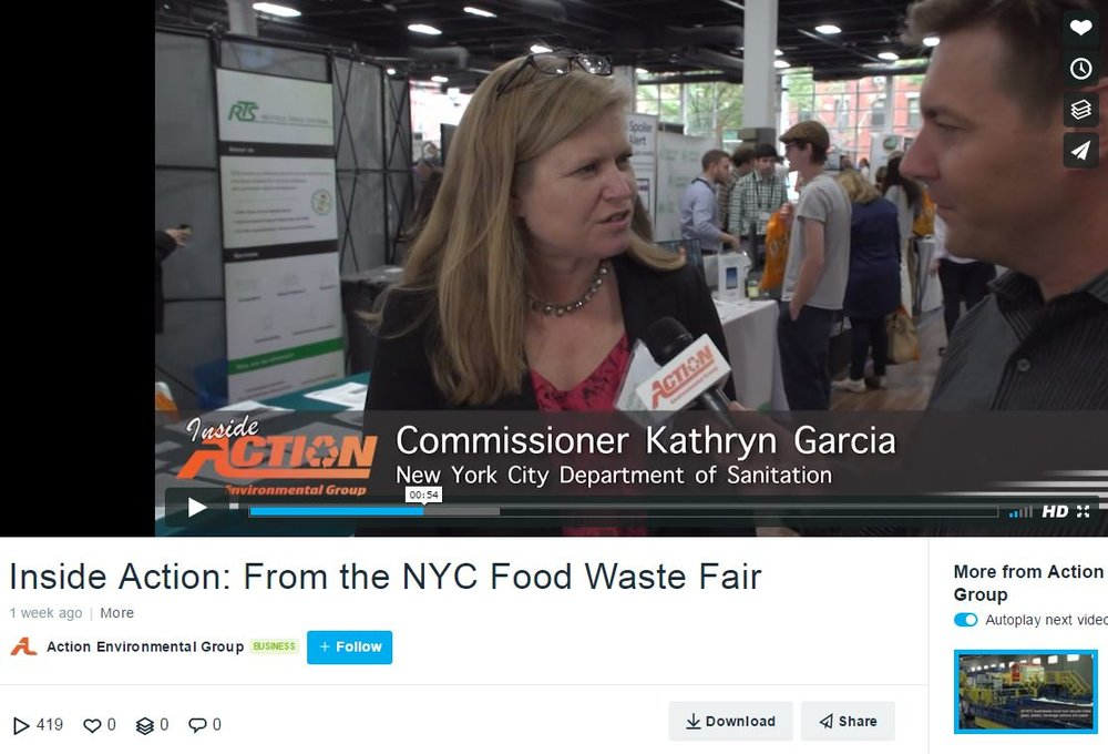 """Inside Action: From the NYC Food Waste Fair"" Action environmental"