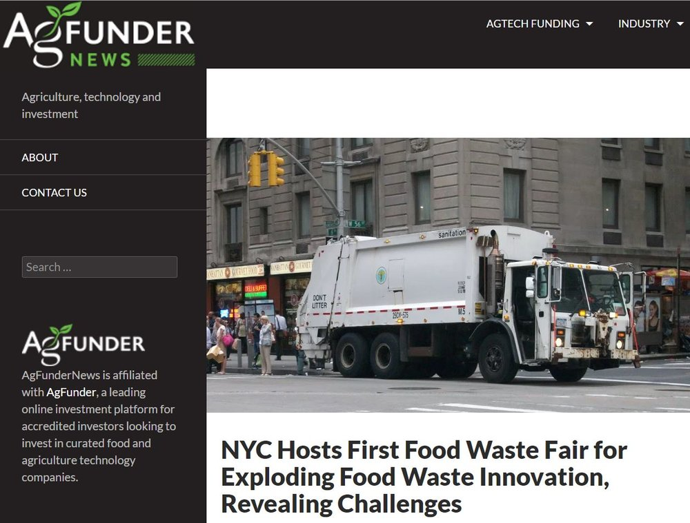 """NYC Hosts First Food Waste Fair for Exploding Food Waste Innovation, Revealing Challenges"" Ag Funder News"