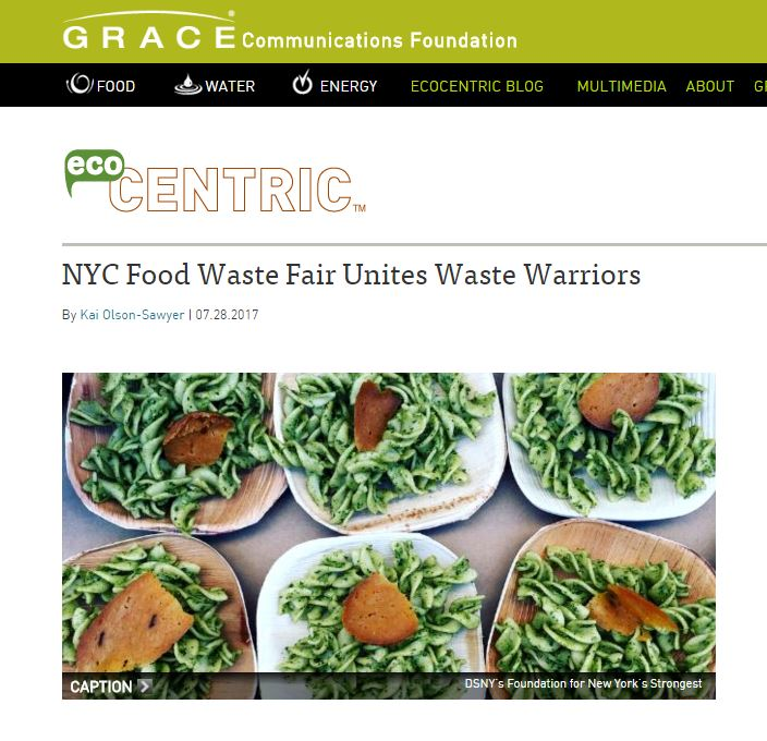 """NYC Food Waste Fair Unites Waste Warriors""  Gracelinks"