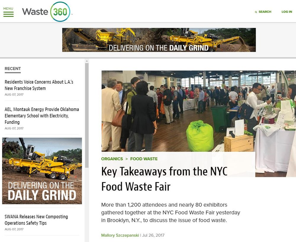"""Key Takeaways from the NYC Food Waste Fair""  Waste360"