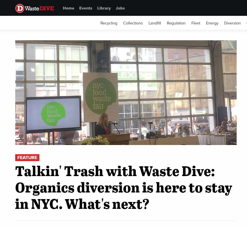 """Talkin' Trash with Waste Dive: Organics diversion is here to stay""  Waste Dive"