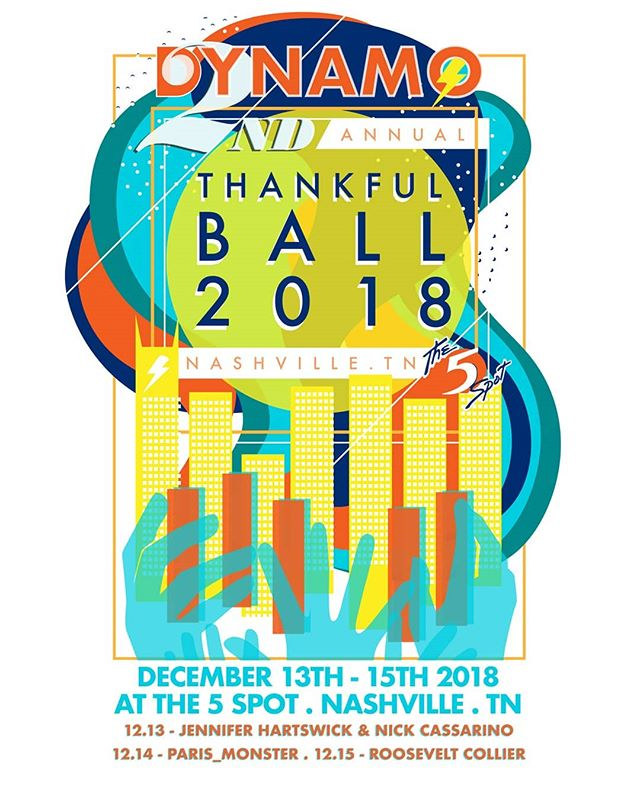 Thankful Ball is back for year 2!  We're psyched to be joined by our friends Jennifer Hartswick & Nick Cassarino, paris_monster and Roosevelt Collier Music at The 5 Spot next month.  Tickets & info: www.dynamo-music.com