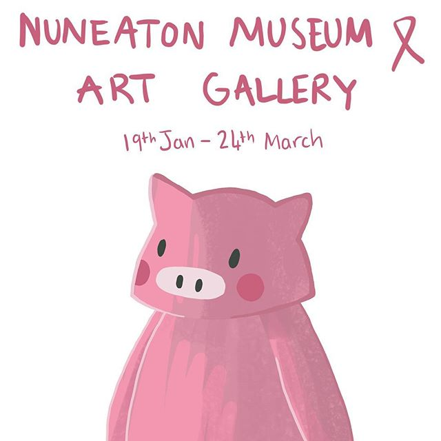 """This Saturday is the grand opening of 'The Culinary Adventures of Little Piggy!' 🐷  This is my first solo exhibition and I'm so excited!  Little Piggy is free to view at Nuneaton Museum & Art Gallery, Riversley Park, Coton Road, Nuneaton, CV11 5TU between the dates of 19th January – 24th March 2019. """"Child-friendly and full of yummy food – what's not to love about Jessica Tracey's selection of fab illustrative prints? These cute pictures are each accompanied by their own recipe card and each shows 'Little Piggy' on a different culinary adventure – perfect!  Jessica will also have some of her artworks for sale so encouraging the kids to get cooking might just have got a little bit easier!"""" #illustration #kidlit #kidlitart #nuneaton #nuneatonmuseumandartgallery #nuneatonandbedworth #westmidlandsartist #childrensillustration #foodart #artexhibition #cuteart #nuneatontown #illustrationhowl #illustrationdaily #illustchu"""