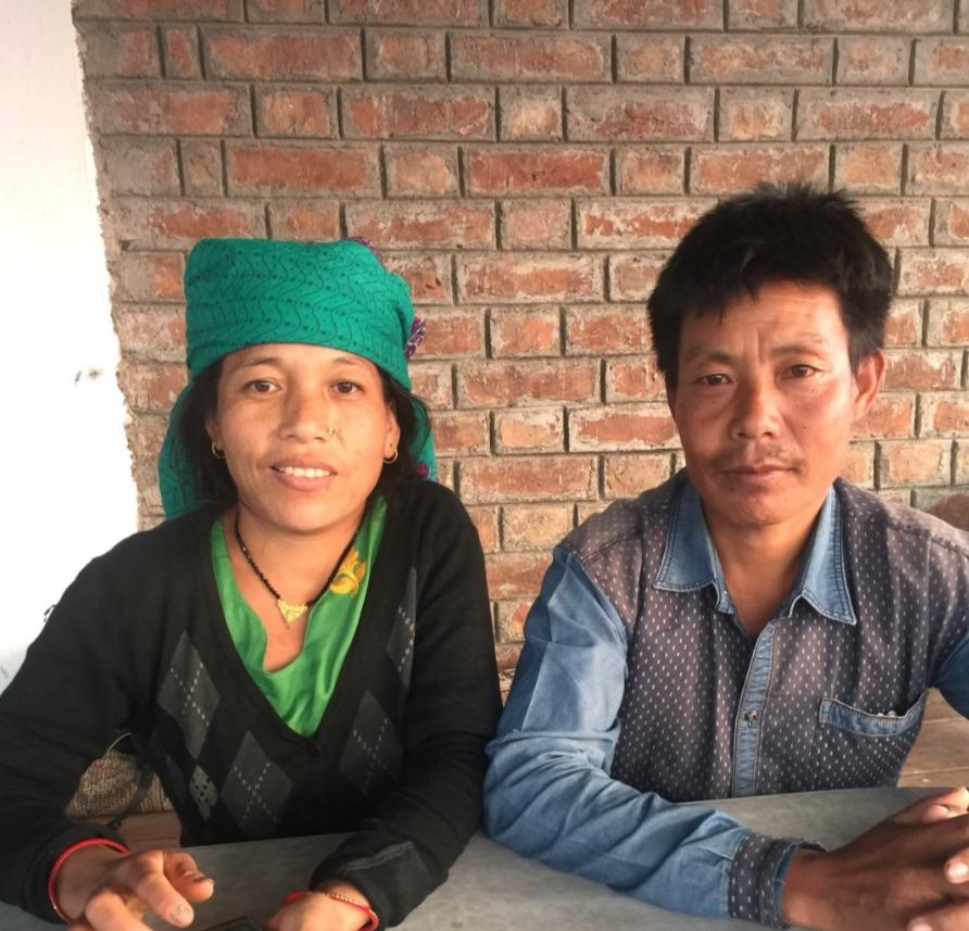 Santosh Rai with his wife