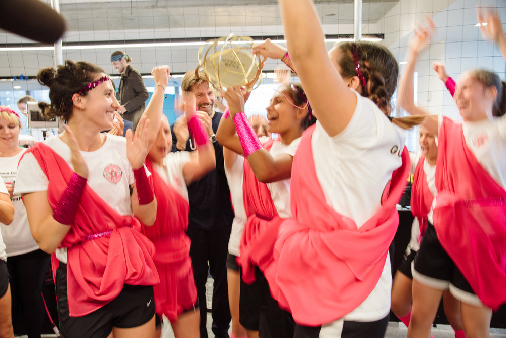 Team Goleadoras celebrating the victory!