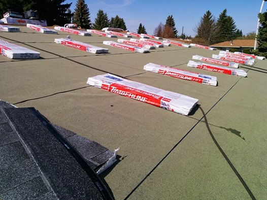 Low Slope roof decks need Ice & Water Shield over the entire surface before shingles are installed.