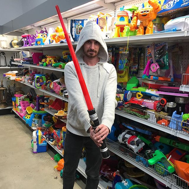 Am I Sith or Jedi? Big kid in a toy shop, don't care! Have an awesome day peeps 😁
