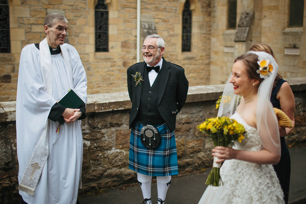 Leeds Yorkshire Wedding Photographer Bride Minister Father