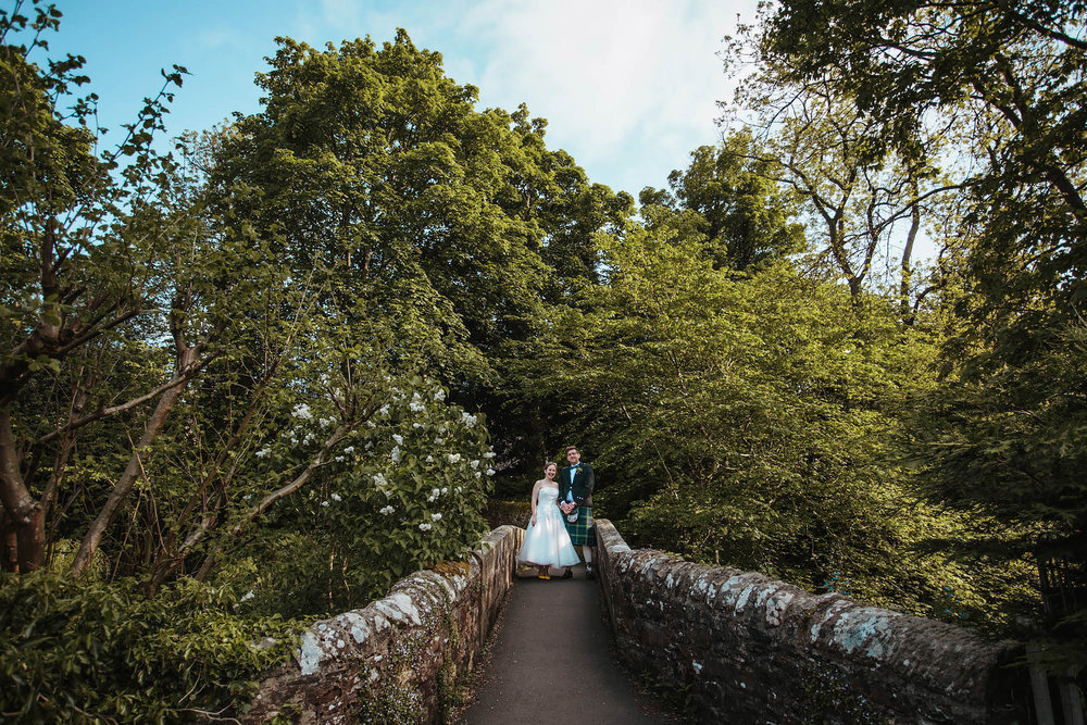 Leeds Yorkshire Wedding Photographer Northumberland Bridge Portrait