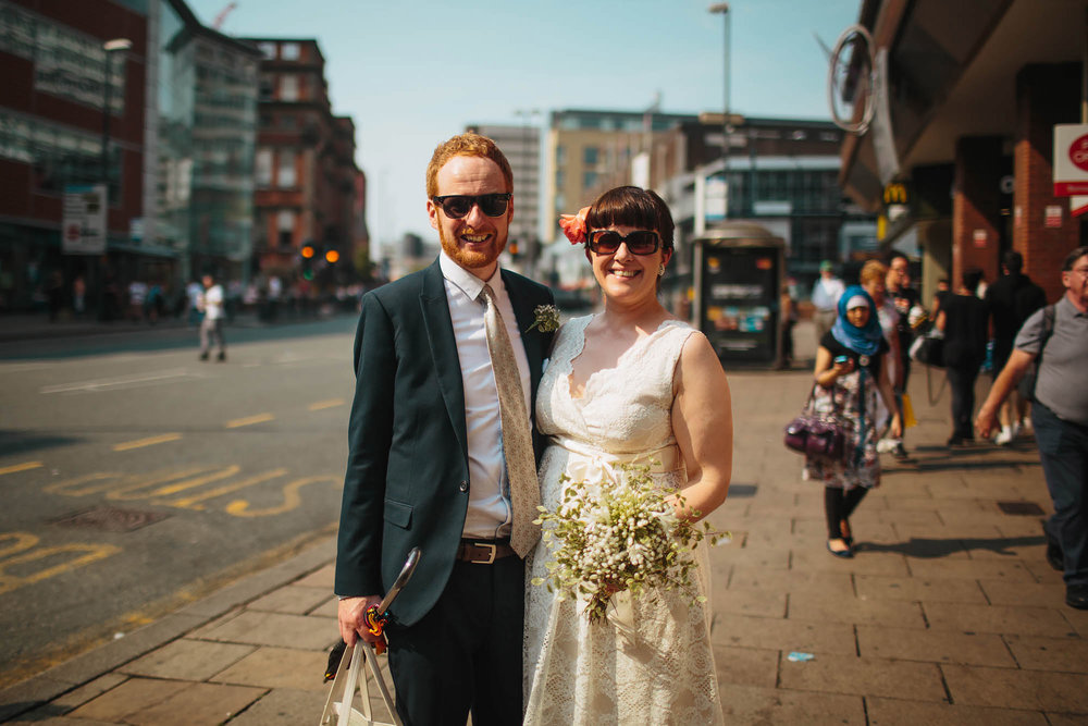 Leeds Yorkshire Wedding Photographer City Centre Bride Groom