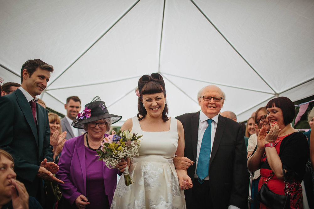 Leeds Yorkshire Wedding Photographer Bride Mother Father Flowers