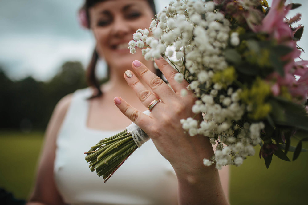 Leeds Yorkshire Wedding Photographer Ring Flowers