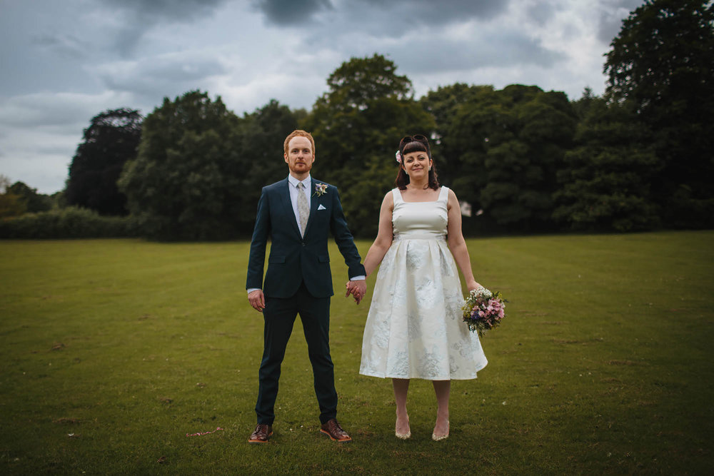 Leeds Yorkshire Wedding Photographer Portrait Grass Trees