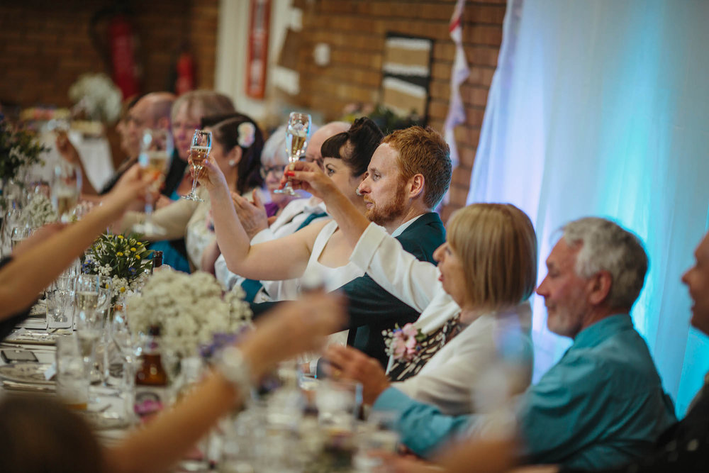 Leeds Yorkshire Wedding Photographer Toast Fizzy Champagne