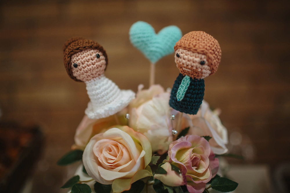 Leeds Yorkshire Wedding Photographer Cake Decoration Knitted