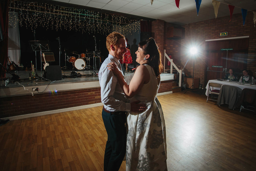 Leeds Yorkshire Wedding Photographer First Dance Flash Portrait